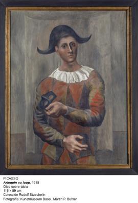 Arlequin con antifaz 1923 Picasso