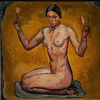 desnudo de rodillas amiet 1913