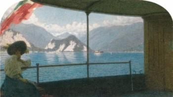 angelo-morbelli-battello-sul-lago-maggiore