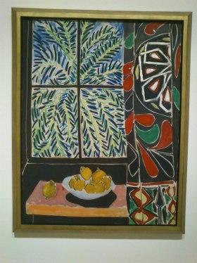 Interior con cortina egipcia. Matisse
