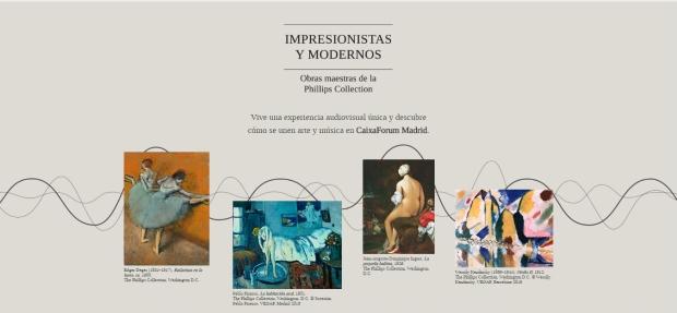 exposicion impresionistas y modernos