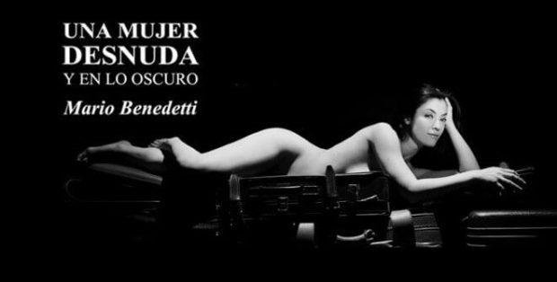 Cartel Una mujer desnuda y en lo oscuro