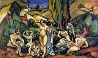 Emile Othon Friesz. Las bañistas de Les Andelys. 1908