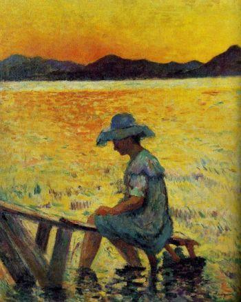 Henri Manguin Saint Tropez puesta de sol