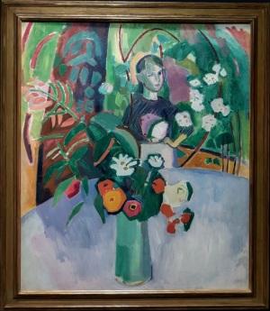 Dufy Jeanne entre las flores