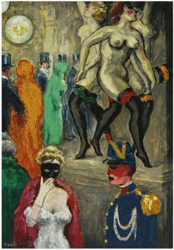 Kees van Dongen. El baile de máscaras en la Ópera. 1904.jpg