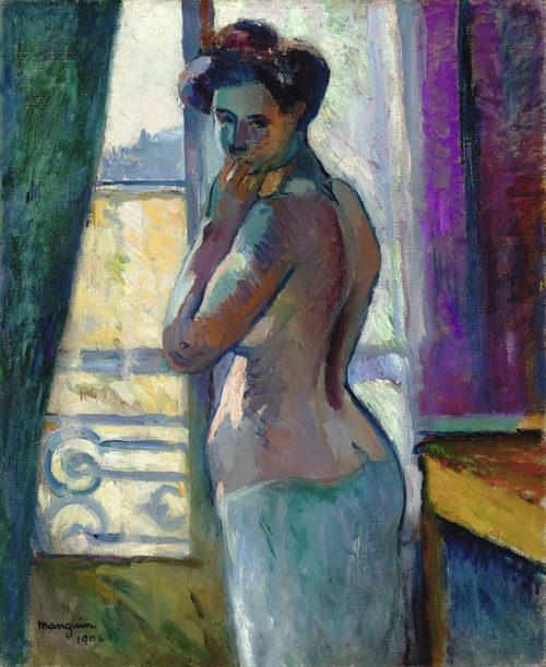 Manguin Devant la fenêtre rue Boursault 1904