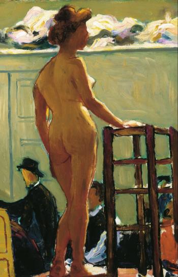 marquet desnudo del estante