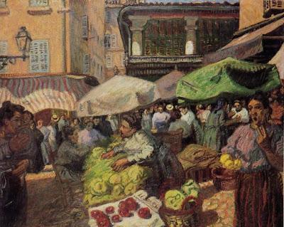 Raoul Dufy El mercado de Marsella